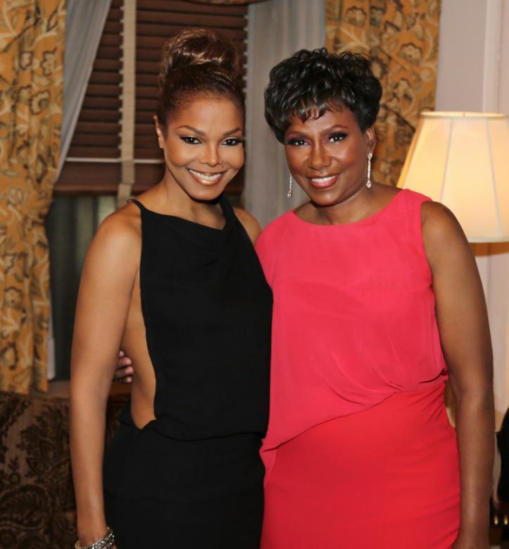 Janet Jackson alongside Maria Davis