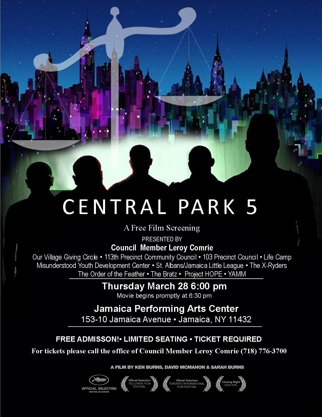 central park five In 1989, five black and latino teenagers from harlem were arrested and later convicted of raping a white woman in new york city's central park they spent between 6 and 13 years in prison before a serial rapist confessed that he alone had committed the crime, leading to their convictions being overturned.