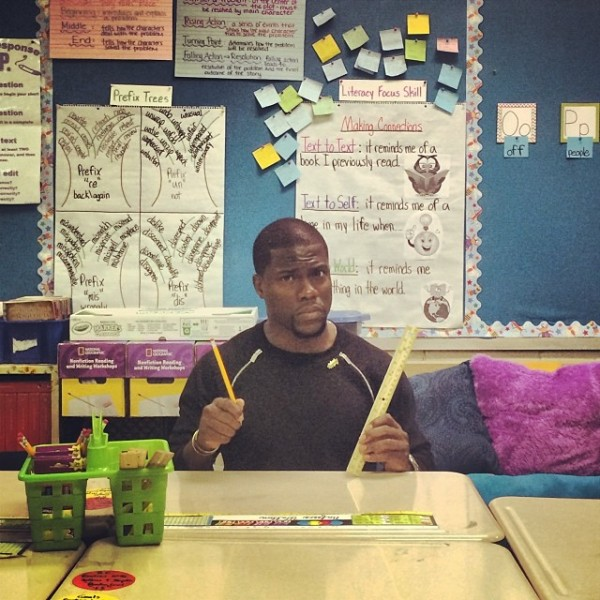 Is he smarter than a fifth grader? Photo Credit: Kevin Hart Instagram