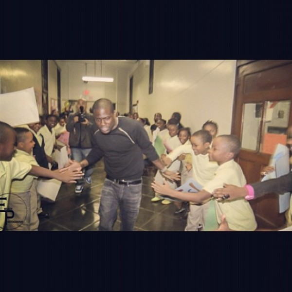 Give a Hand to Have the Resources to Learn. Yay, Kevin. Photo credit: Kevin Hart Instagram