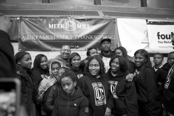 Meek Mill starts annual Dream Chasers event in native Philly. Photo Credit: Theybf.com
