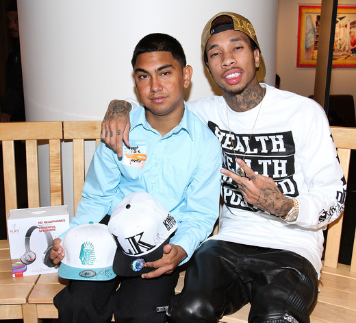Tyga  with Isael at L.A. Hospital Photo Credit: Theybf.com