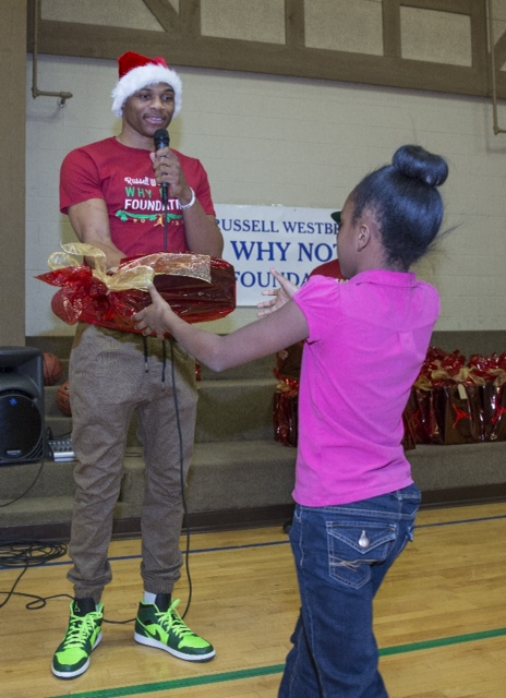 Russell Westbrook granting a Christmas wish. Photo Credit: Westbrook