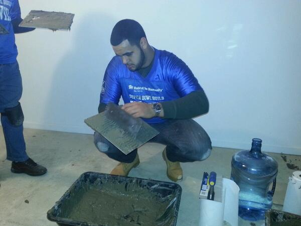 Aboushi preparing to get his hands dirty. Image Credit: Habitat NYC