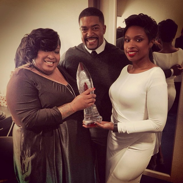 Jennifer Hudson, sister Julia Hudson and fiance David Otunga Photo Credit: iamjhud Instagram