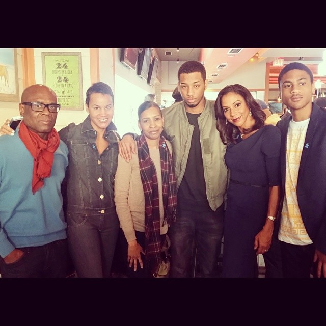 Holly Rob Peete, Vanessa Oquendo and family, L.A. and Erica Reid. Image Credit: Holly Rob Pete IG