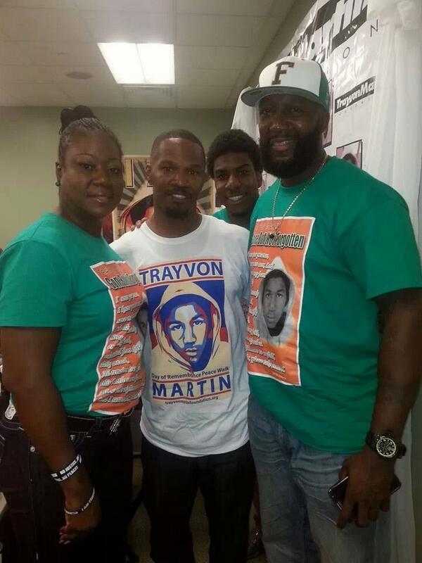JamiewithTrayvonandfamily
