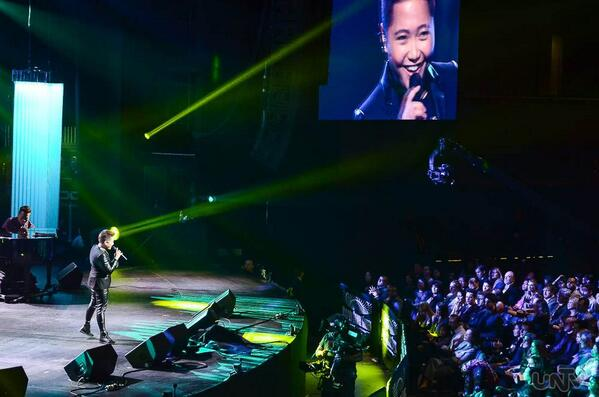 Charice going the short hair-don't-care route using her stellar voice to help her country get back on their feet. Image Courtesty: UNTV