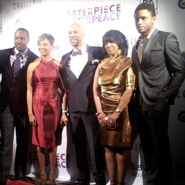 Malik Yoba, MC Lyte, Common, Veranda Dickens (honoree) and Nnamdi Asomugha without Kerry Washington. Image Courtesy: kimworldaccess