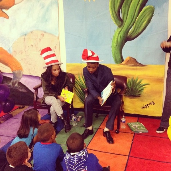 Imani Hakim and Juwan...everyone looks good in that stripped hat.  Image Courtesy: IG