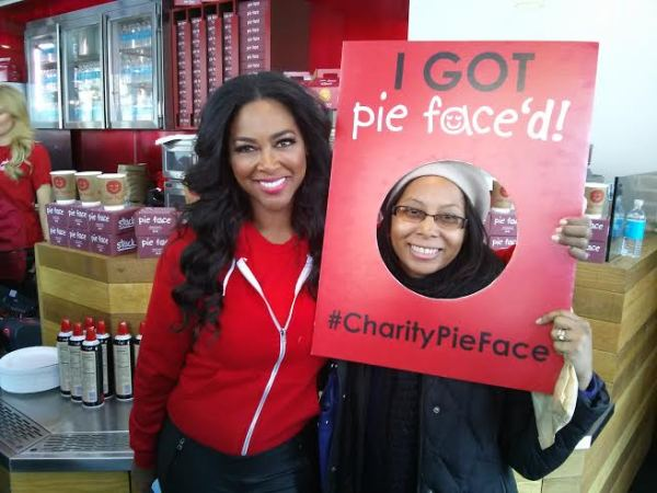 Me and Kenya Moore. I got #piefaced. Image Courtesy: Kate Gosselin