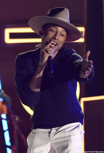 "Pharrell with the magic hat singing about his ""Happy""ness.  Image Courtesy: Facebook"