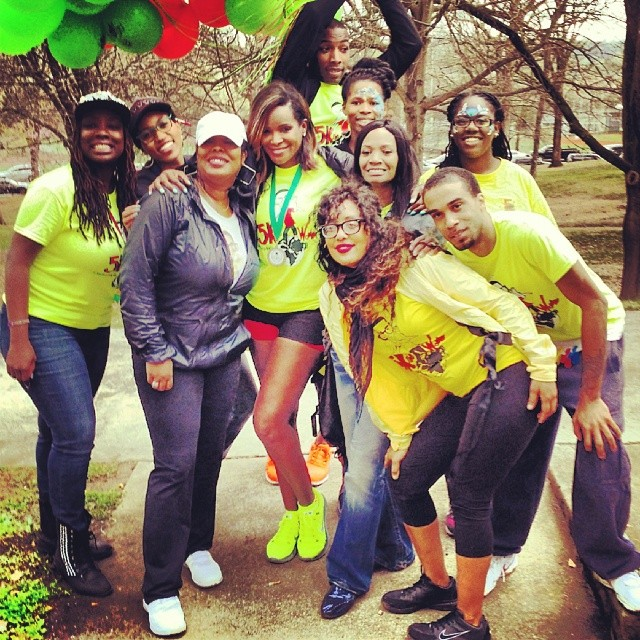 Friends, Family and Tameka's whole crew joined in on the Kile World Foundation cause.  Image Courtesy: Instagram