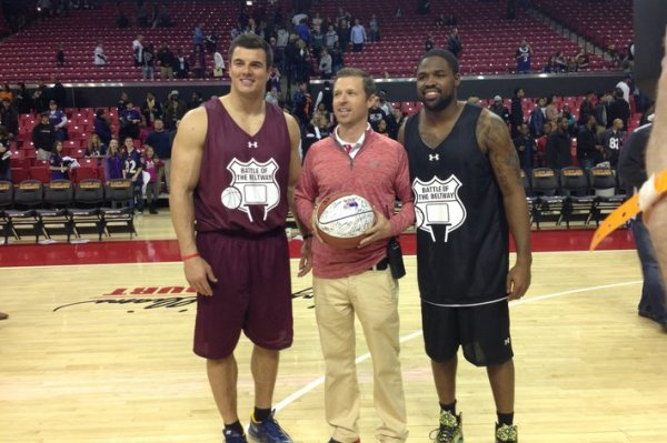 Ryan Kerrigan and Torrey Smith at the Battle of the Beltway. Image Courtesy: Testudo Times/Patrick Donohue
