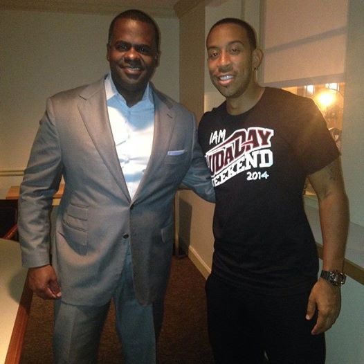 Ludacris joined by ATL Mayor Kasim Reed. Photo Credit: Ludacris Facebook