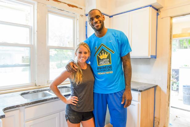 the miami heat turned cleveland cavalier player used his family foundation to team up with hgtv to help renovate a home
