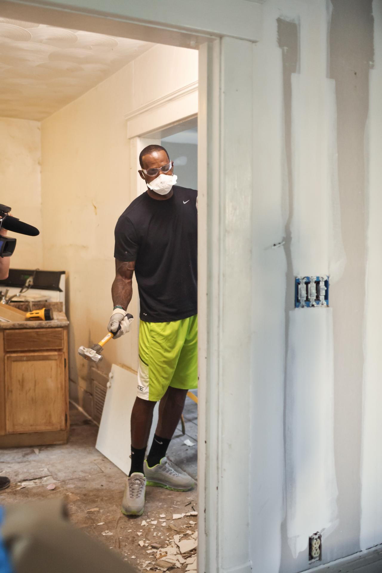 watch lebron work a hammer alongside nicole curtis u201crehab addictu201d host on dec 4 11 18 and three jan episodes