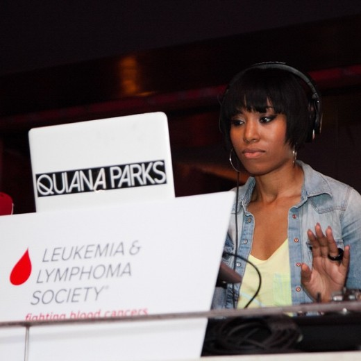 Quiana Parks doing her thing at DJ For A Cure movement.