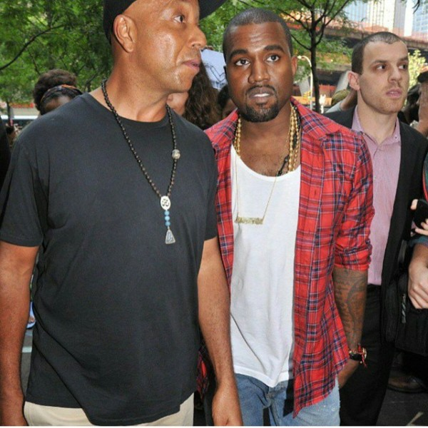 Russell Simmons and Kanye West want to change the fashion industry, but have conflicting ways on doing it. Photo Courtesy: unclerush instagram