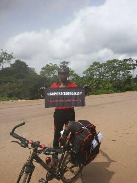 Oyekoya Yemi is wrapping up his 15 day charity tour through West Africa to raise awareness for #BringBackOurGirls Campaign Image Courtesy: Instagram