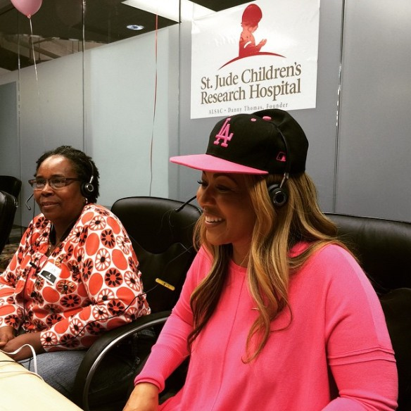 "Erica Campbell not only singing ""Help"" but providing some for St. Jude's Children's Hospital.  Photo Credit: Instagram"