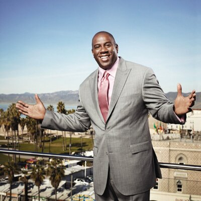 """Magic """"Earvin"""" Johnson is giving this much money to Chicago youth. Image Courtesy: Twitter"""