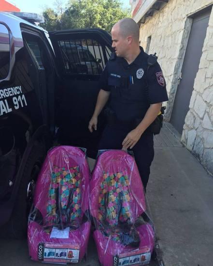 cops car seat
