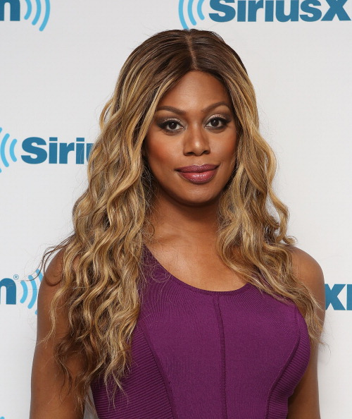 NEW YORK, NY - JUNE 10:  (EXCLUSIVE COVERAGE) Laverne Cox  visits at SiriusXM Studios on June 10, 2014 in New York City.  (Photo by Robin Marchant/Getty Images)